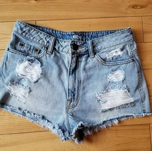 BDG Cheeky High Rise Distressed Shorts BOGO SALE